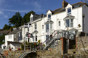 old terrace houses at Fowey, Cornwall