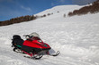 snowmobile in winter mountain - 74885983