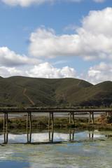 water transportation pipe bridge