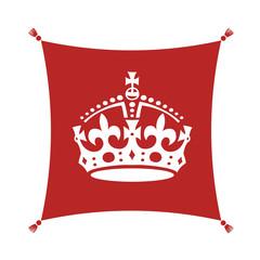 Keep Calm Crown  Symbol on Cushion