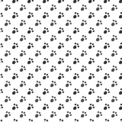 Seamless pattern of cat or dog footprint