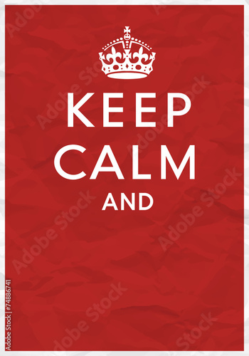 Plagát, Obraz Keep Calm Poster with Crown