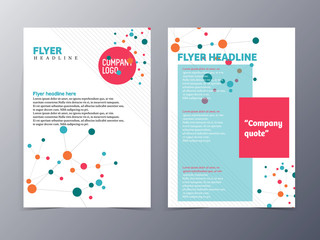 colorful circular link flyer template