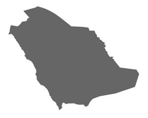 Saudi Arabien in Grau