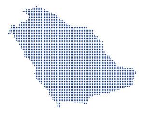 Saudi Arabien - blaue Punkte