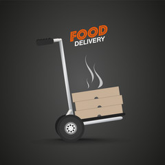 Courier food delivery