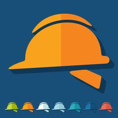 Flat design: helmet