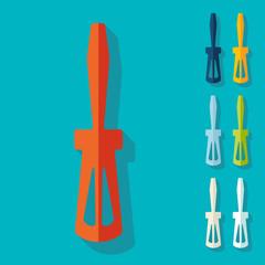 Flat design: screwdriver