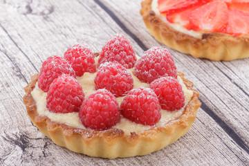 Tartlet with Fresh Raspberries