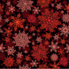 Snowflakes seamless red pattern