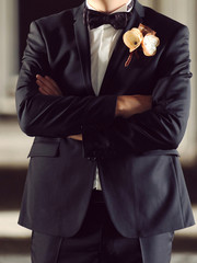 Groom's Black Suit