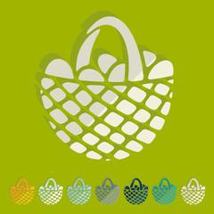 Flat design: easter basket