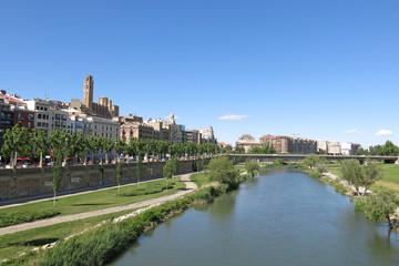 Panorama of Lleida. Catalonia, Spain.