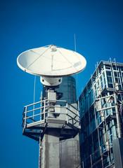 Satellite dish.  Telecommunication Satellite