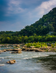 Rapids on the Potomac River in Harpers Ferry, West Virginia.