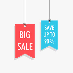 Stylish tag design for sale with 90% discount offer.