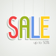 Poster or banner design for Sale with 50% discount offer.