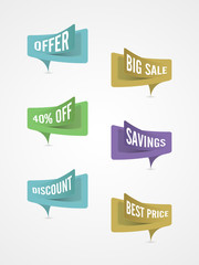 Stylish sticker, tag or label design for sale and discount.
