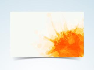 Splash orange colour in frame shape.