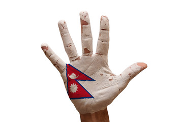 palm flag nepal