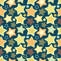 seamless pattern with stars