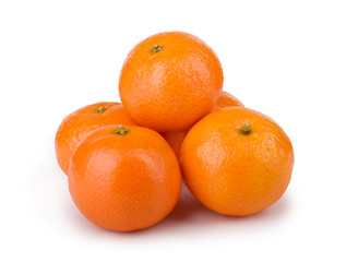 mandarins on white background