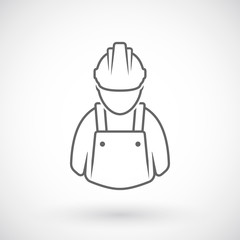 Worker outline icon