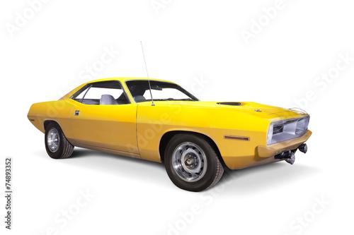 Foto op Canvas Vintage cars Plymouth Cuda 1970