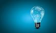Light bulb with gears - 74893559