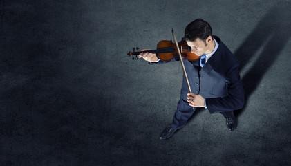 Businessman with violin