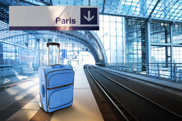 Departure for Paris, France