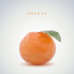 Low poly orange