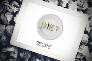 Composite image of diet new years resolution