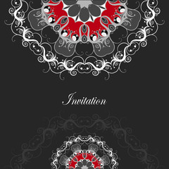 Luxury card with ornate floral pattern.