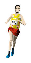 athlète coureur de cross country ou marathon
