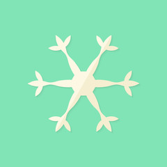 Big Christmas Snowflake Flat Icon