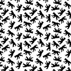 berliner bear seamless pattern