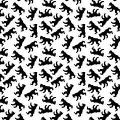 berliner bear seamless pattern