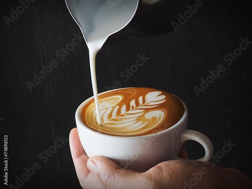 Foto op Canvas Koffie Latte art Coffee Collage
