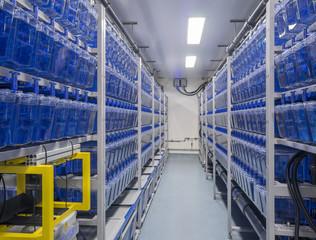 Biological research laboratory interior