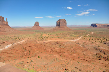 Panoramic view of the Monument Valley
