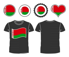 t-shirt with the flag of Belarus