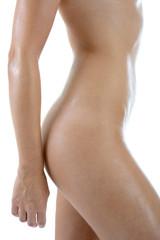 Makelloser schlanker Körper einer Frau