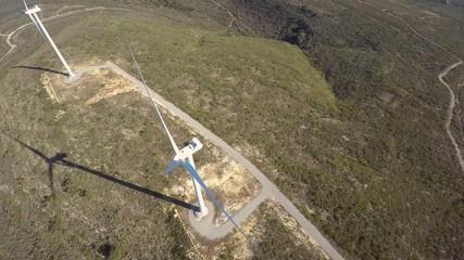 Aerial video wind farm Texas