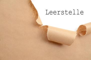 Leerstelle
