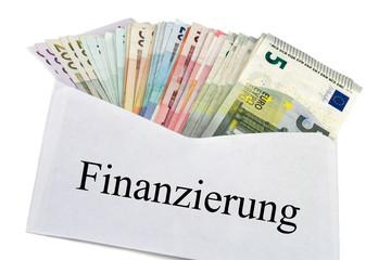Geldscheine im Briefumschlag - Finanzierung