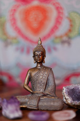 Buddha and crystals