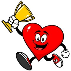 Heart Running with Trophy