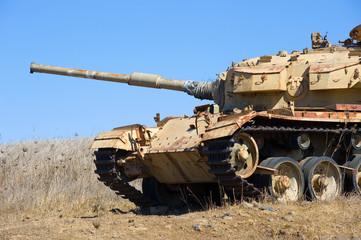 Old tank of war