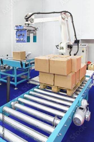 Leinwanddruck Bild Robotic palletizer